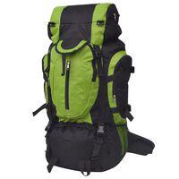 vidaXL Outdoorový batoh XXL 75 l černý a zelený