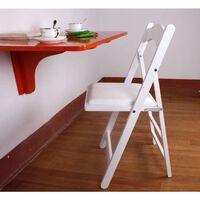 SoBuy FST06-W Skládací židle, dřevěná židle, kuchyňská židle, bílá