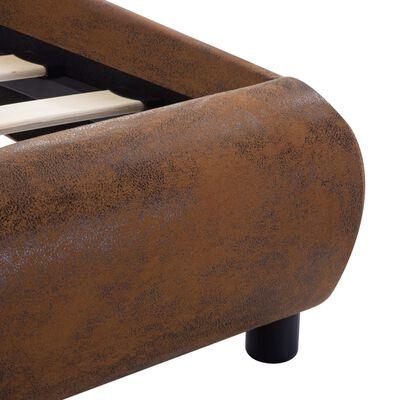 vidaXL Rám postele hnědý umělá kůže 120 x 200 cm