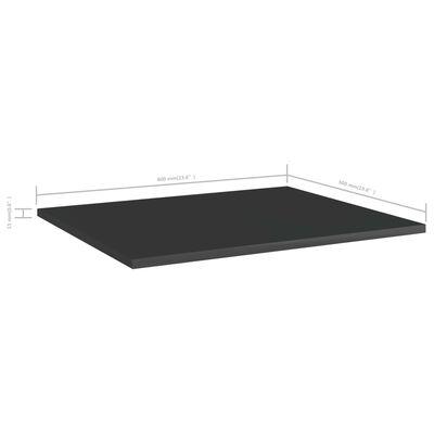 vidaXL Přídavné police 4 ks černé vysoký lesk 60x50x1,5 cm dřevotříska