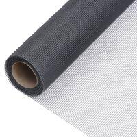 vidaXL Síť proti hmyzu sklolaminát 80 x 2000 cm šedá