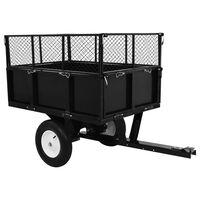 vidaXL Sklápěcí přívěsný vozík za zahradní traktor nosnost 300 kg