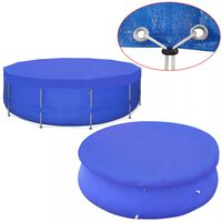 vidaXL Kryt na bazén PE kulatý 540 cm 90 g/m²