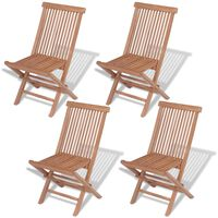 vidaXL Skládací zahradní židle 4 ks masivní teak