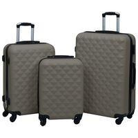 vidaXL Sada skořepinových kufrů na kolečkách 3 ks antracitová ABS