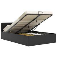 vidaXL Rám postele zvedací úložný prostor černý umělá kůže 140x200 cm