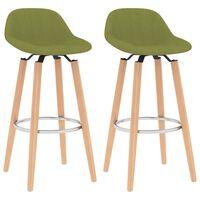 vidaXL Barové židle 2 ks zelené textil