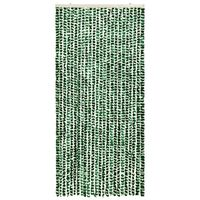 vidaXL Insect Curtain Green and White 100x220 cm Chenille