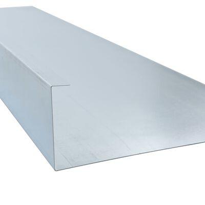 vidaXL Zábrany proti slimákům 4 ks pozinkovaná ocel 170x7x25 cm 0,7 mm