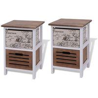 vidaXL Noční stolky 2 ks dřevěné
