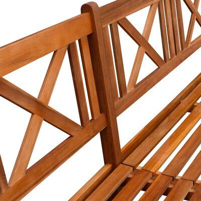 vidaXL Zahradní lavice s poduškami 240 cm masivní akáciové dřevo