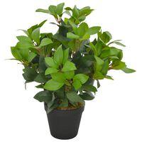 vidaXL Umělá rostlina vavřín vznešený s květináčem zelená 40 cm