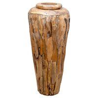 vidaXL Dekorativní váza 40 x 80 cm masivní teakové dřevo