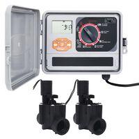 vidaXL Zavlažovací počítač se 2 elektromagnetickými ventily
