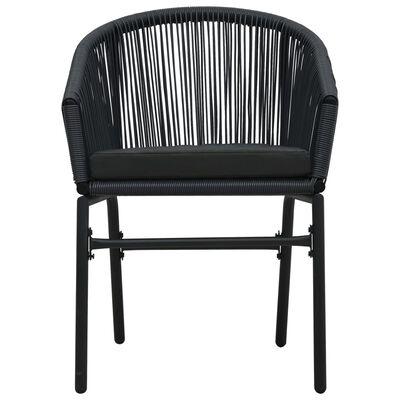 vidaXL 3dílný bistro set s poduškami PVC ratan černý