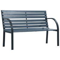 vidaXL Zahradní lavice 120 cm šedá dřevo