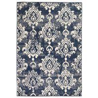 vidaXL Moderní koberec s kašmírovým vzorem 140 x 200 cm béžovo-modrý