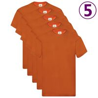 Fruit of the Loom Originální trička 5 ks oranžová XL bavlna