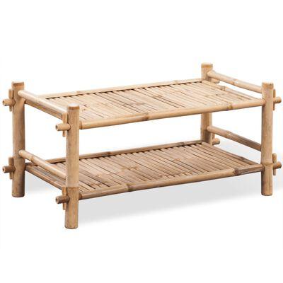 Dvoupatrový bambusový botník