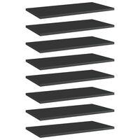 vidaXL Přídavné police 8 ks černé vysoký lesk 60x30x1,5 cm dřevotříska