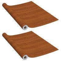vidaXL Samolepící tapety na nábytek 2 ks světlý dub 500 x 90 cm PVC