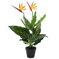 vidaXL Umělá rostlina strelície královská pták z ráje 66 cm