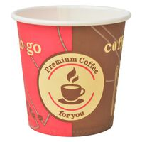 vidaXL Jednorázové kelímky na kávu 1000 ks 120 ml