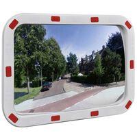 Dopravní vypouklé zrcadlo obdélníkové 40 x 60 cm s odrazkami