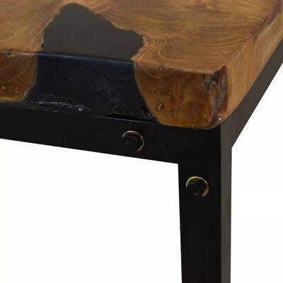 vidaXL Konferenční stolek, teak a pryskyřice, 110x60x40 cm