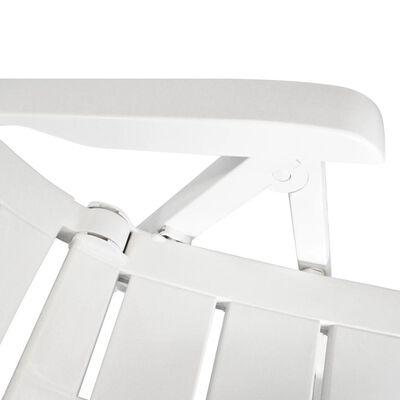 vidaXL Polohovatelná zahradní křesla 4 ks plast bílá