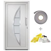 vidaXL Vchodové dveře bílé 98 x 190 cm