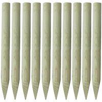 vidaXL Dřevěné kůly plotové 10 ks dřevo 100 cm