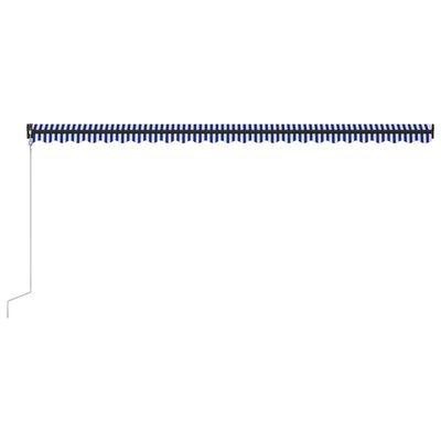 vidaXL Automatická zatahovací markýza 600 x 300 cm modrobílá