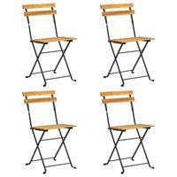 vidaXL Skládací židle na balkon 4 ks masivní akáciové dřevo