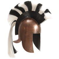 vidaXL Řecká vojenská přilba pro LARPy replika měď ocel