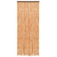 vidaXL Insect Curtain Ochre and White 56x185 cm Chenille