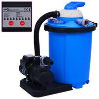 vidaXL Pískové filtrační čerpadlo s časovačem 550 W 50 l