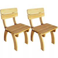 vidaXL Zahradní židle 2 ks impregnované borové dřevo