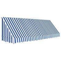 vidaXL Okenní markýza 400 x 120 cm modro-bílá