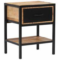 vidaXL Noční stolek z masivního mangovníkového dřeva 40 x 30 x 50 cm