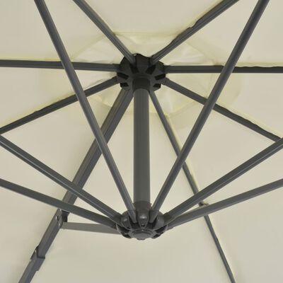 vidaXL Konzolový slunečník s hliníkovou tyčí 300 cm pískový