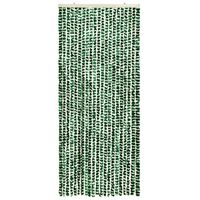vidaXL Insect Curtain Green and White 56x185 cm Chenille