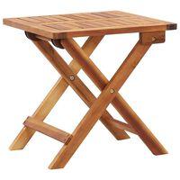 vidaXL Skládací zahradní konferenční stolek 40x40x40 cm masivní akácie