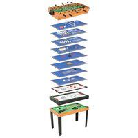 vidaXL 15 v 1 multifunkční herní stůl 121 x 61 x 82 cm javor
