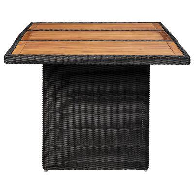 vidaXL Zahradní jídelní stůl černý 200 x 100 x 74 cm polyratan