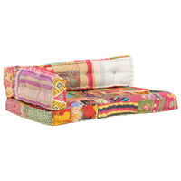 vidaXL Poduška na pohovku z palet vícebarevná textil patchwork