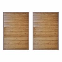 vidaXL Bambusové koupelnové předložky 2 ks 60 x 90 cm hnědé