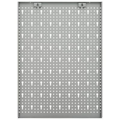 vidaXL Nástěnné děrované panely 3 ks 40 x 58 cm ocel