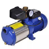 Proudové čerpadlo s manometrem , 1300 W 5100 L / h , modré
