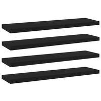 vidaXL Přídavné police 4 ks černé 40 x 10 x 1,5 cm dřevotříska